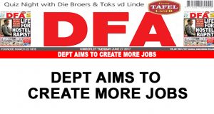 Dept aims to create more jobs