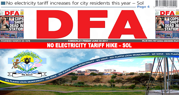 No electricity tariff hike – Sol