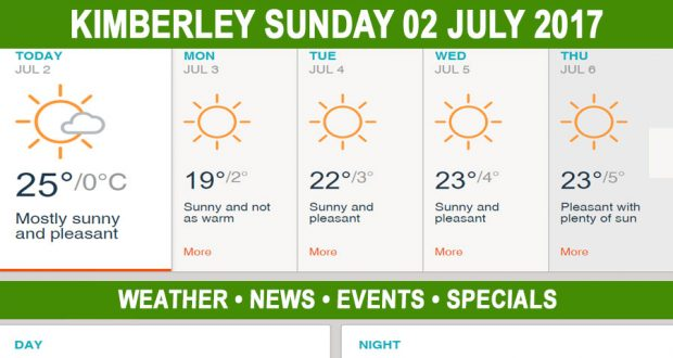 Today in Kimberley South Africa - Weather News Events 2017/07/02