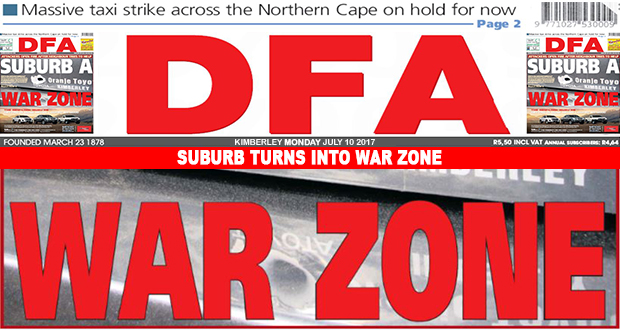 SUBURB TURNS INTO WAR ZONE