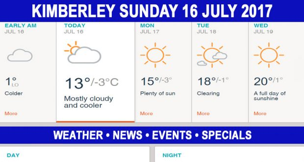 Today in Kimberley South Africa - Weather News Events 2017/07/16
