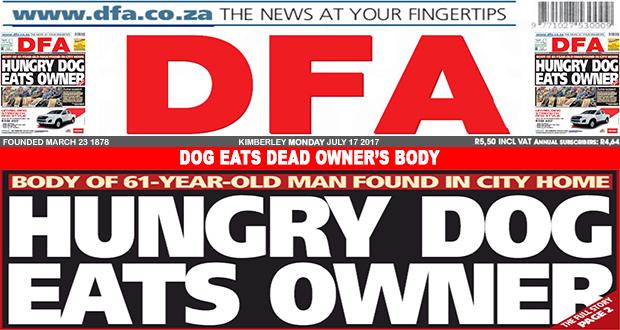 Dog eats dead owner's body