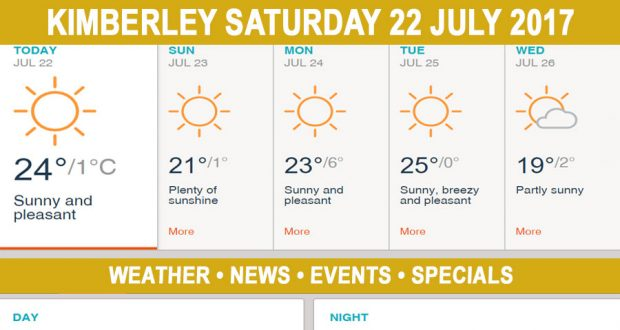 Today in Kimberley South Africa - Weather News Events 2017/07/22