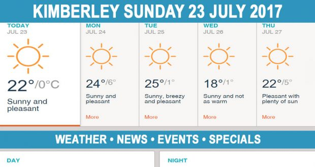 Today in Kimberley South Africa - Weather News Events 2017/07/23