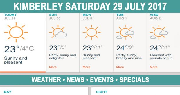 Today in Kimberley South Africa - Weather News Events 2017/07/29