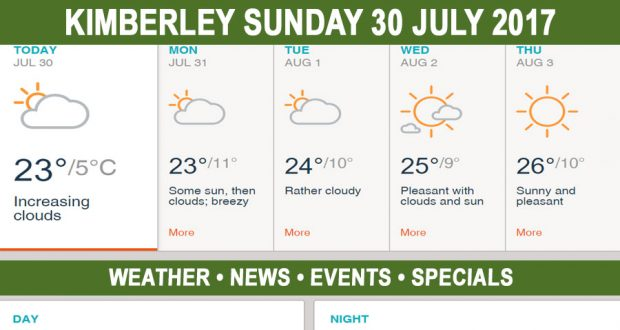 Today in Kimberley South Africa - Weather News Events 2017/07/30