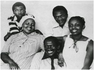 Robert Mangaliso Sobukwe and his family (wife and children)