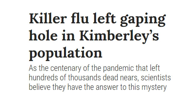 Spanish Flu Kimberley