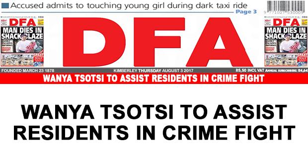 Wanya Tsotsi to assist residents in crime fight