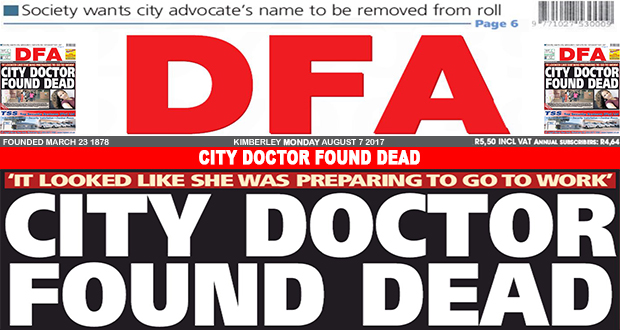 CITY DOCTOR FOUND DEAD