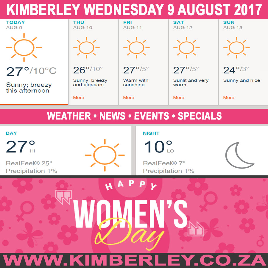 Today in Kimberley South Africa - Weather News Events 2017/08/09