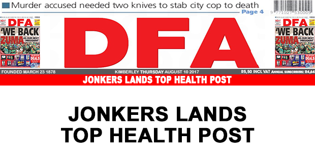 Jonkers lands top Health post