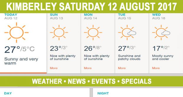 Today in Kimberley South Africa - Weather News Events 2017/08/12