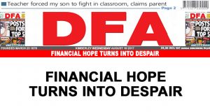 Financial hope turns into despair