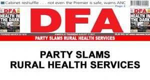 Party slams rural health services