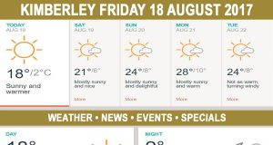 Today in Kimberley South Africa - Weather News Events 2017/08/18