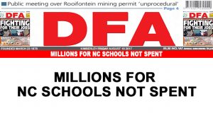 Millions for NC schools not spent