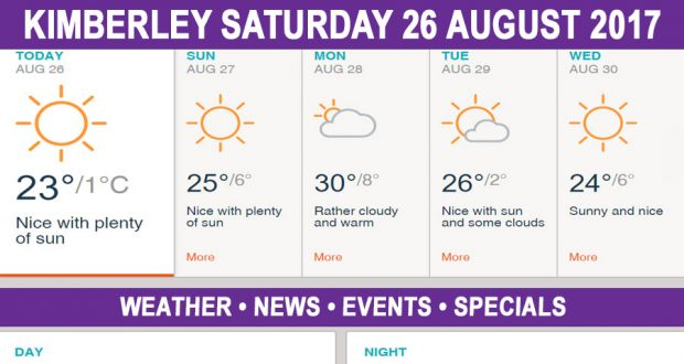 Today in Kimberley South Africa - Weather News Events 2017/08/26