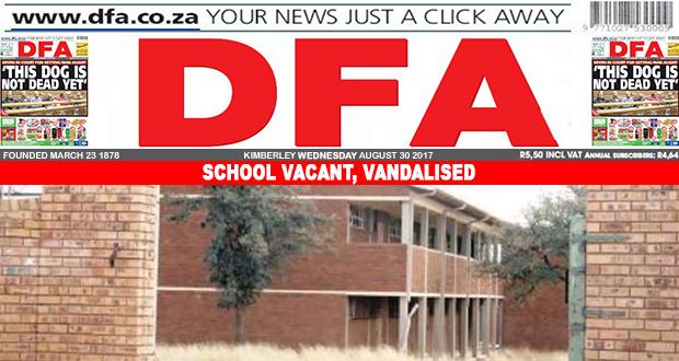 School vacant, vandalised