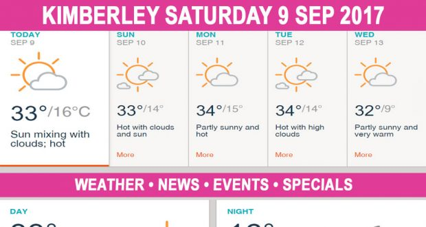 Today in Kimberley South Africa - Weather News Events 2017/09/09