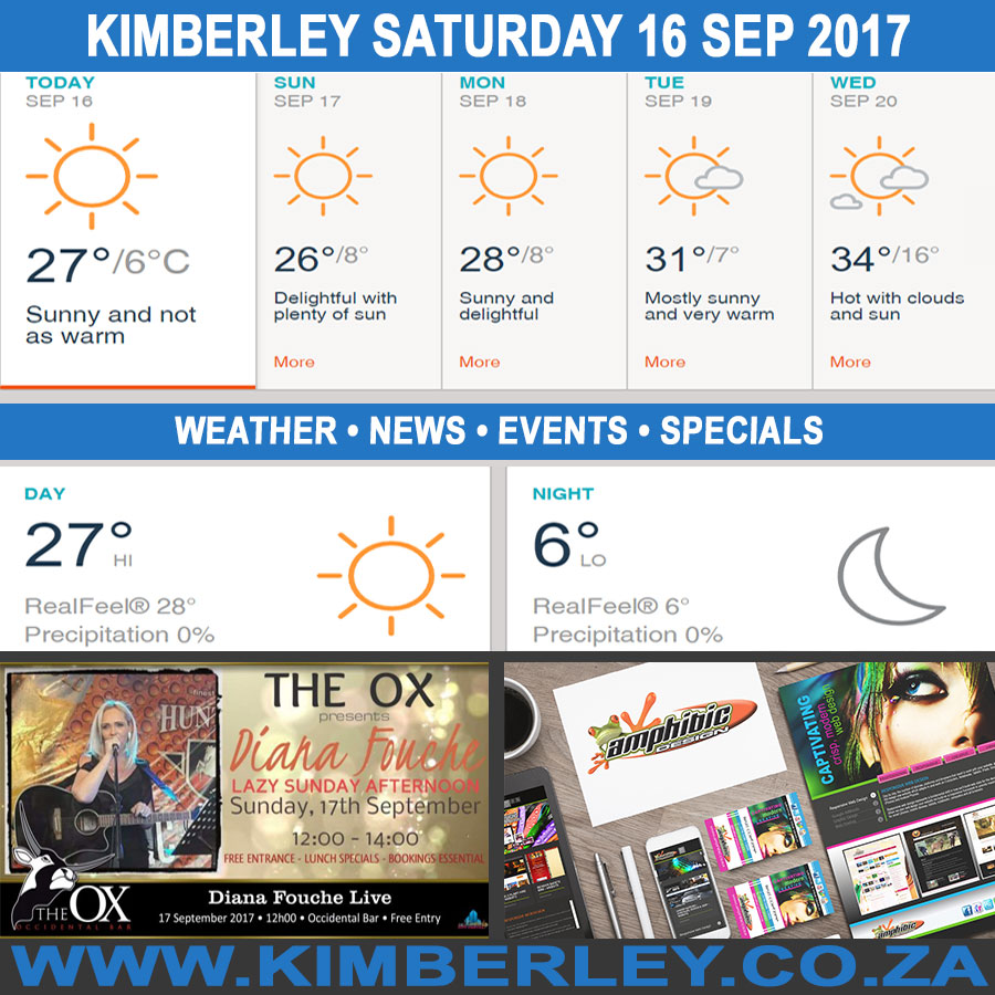 Today in Kimberley South Africa - Weather News Events 2017/09/16