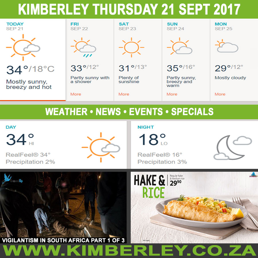 Today in Kimberley South Africa - Weather News Events 2017/09/21