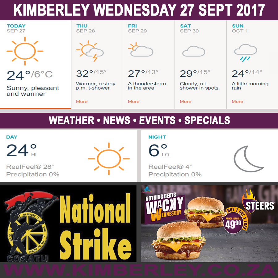 Today in Kimberley South Africa - Weather News Events 2017/09/27