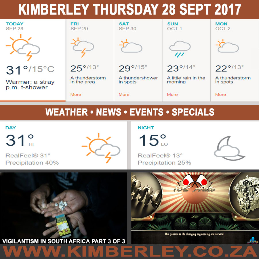 Today in Kimberley South Africa - Weather News Events 2017/09/28