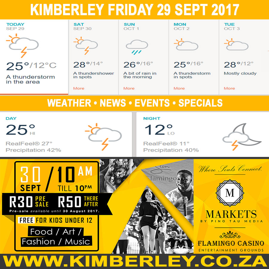 Today in Kimberley South Africa - Weather News Events 2017/09/29