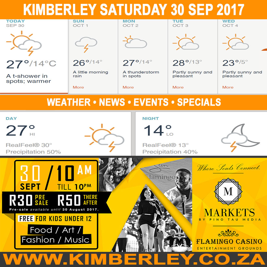 Today in Kimberley South Africa - Weather News Events 2017/09/30