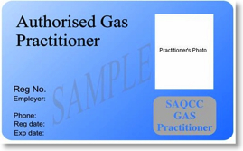 SAQCC Gas Authorized Practitioner Card Front