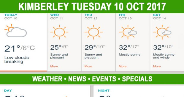 Today in Kimberley South Africa - Weather News Events 2017/10/10