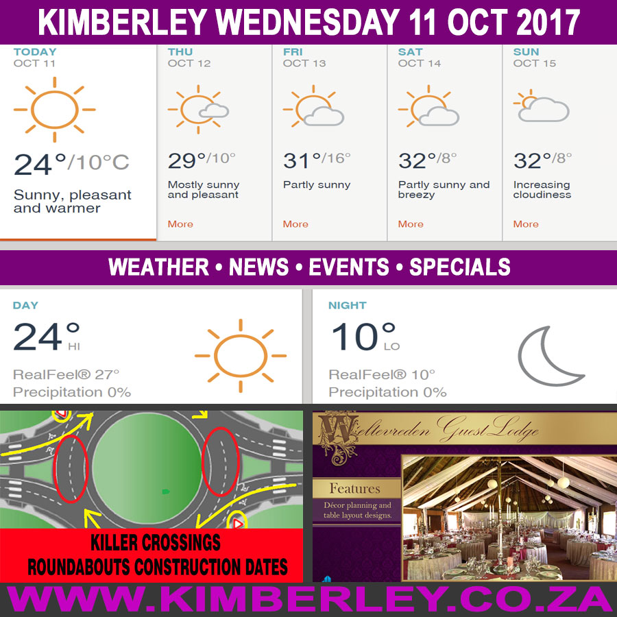 Today in Kimberley South Africa - Weather News Events 2017/10/11