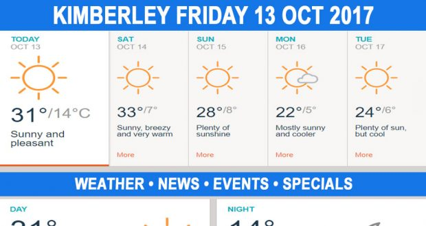 Today in Kimberley South Africa - Weather News Events 2017/10/13