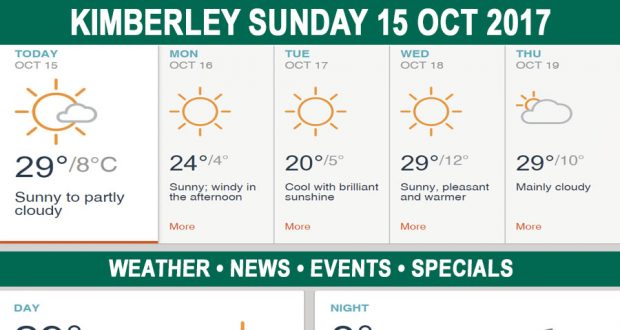 Today in Kimberley South Africa - Weather News Events 2017/10/15