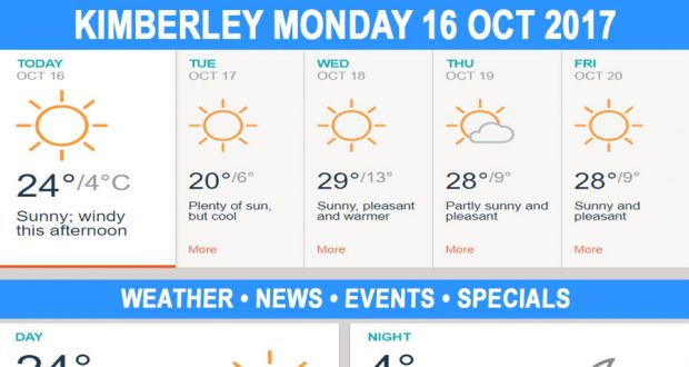 Today in Kimberley South Africa - Weather News Events 2017/10/16