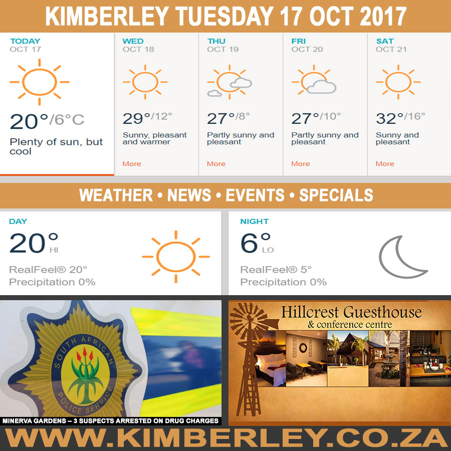 Today in Kimberley South Africa - Weather News Events 2017/10/17