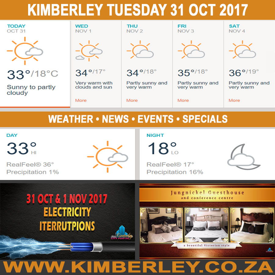 Today in Kimberley South Africa - Weather News Events 2017/10/31