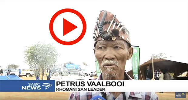 Petrus Vaalbooi The New Leader of San Community in the Northern Cape