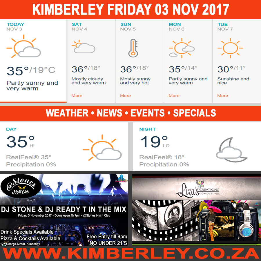 Today in Kimberley South Africa - Weather News Events 2017/11/03