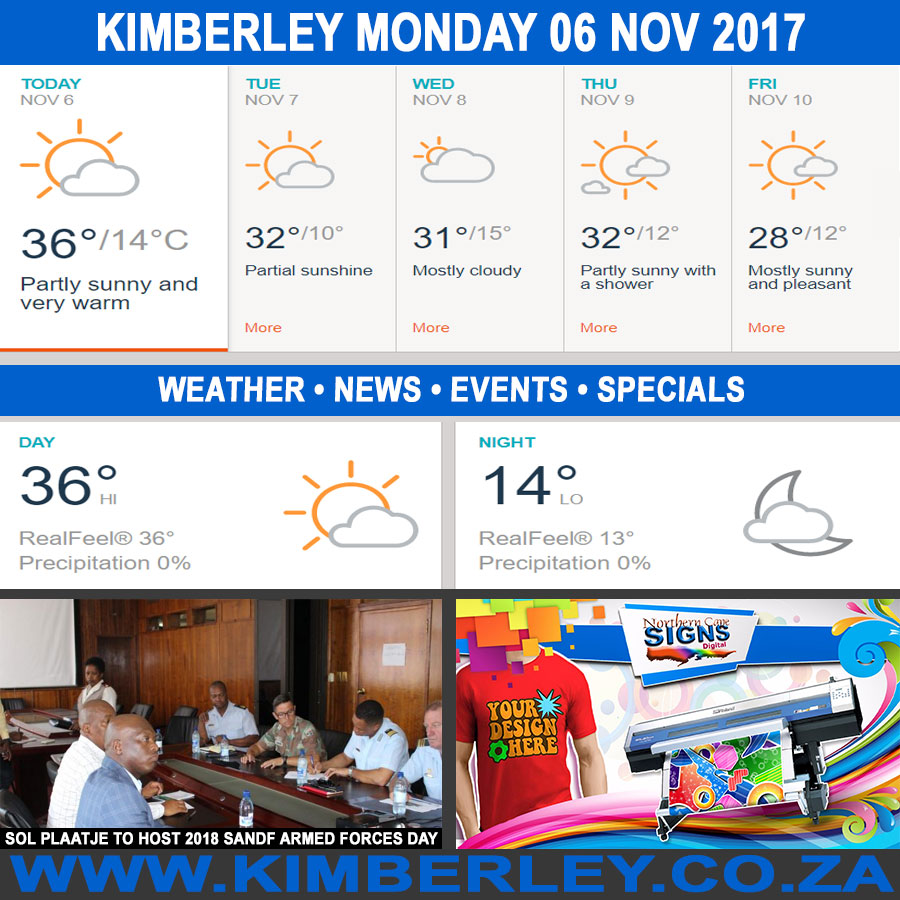 Today in Kimberley South Africa - Weather News Events 2017/11/06