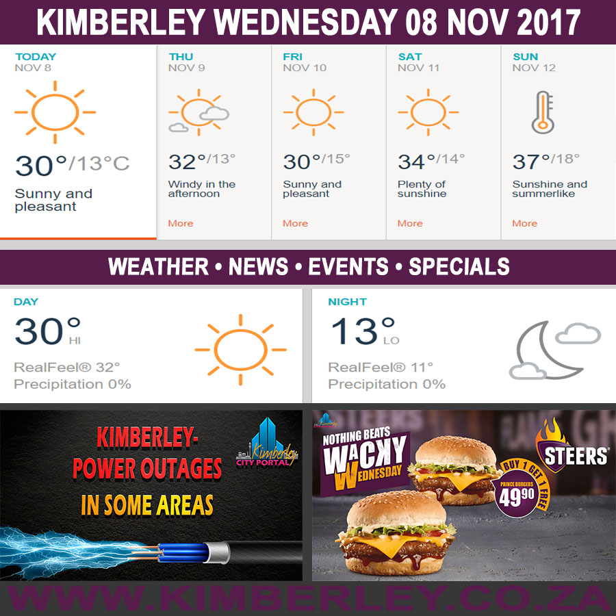 Today in Kimberley South Africa - Weather News Events 2017/11/08
