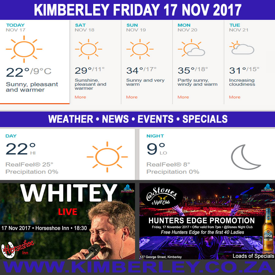 Today in Kimberley South Africa - Weather News Events 2017/11/17