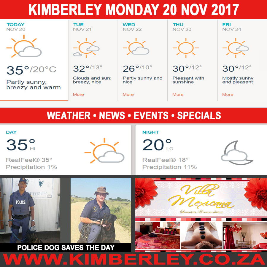 Today in Kimberley South Africa - Weather News Events 2017/11/20