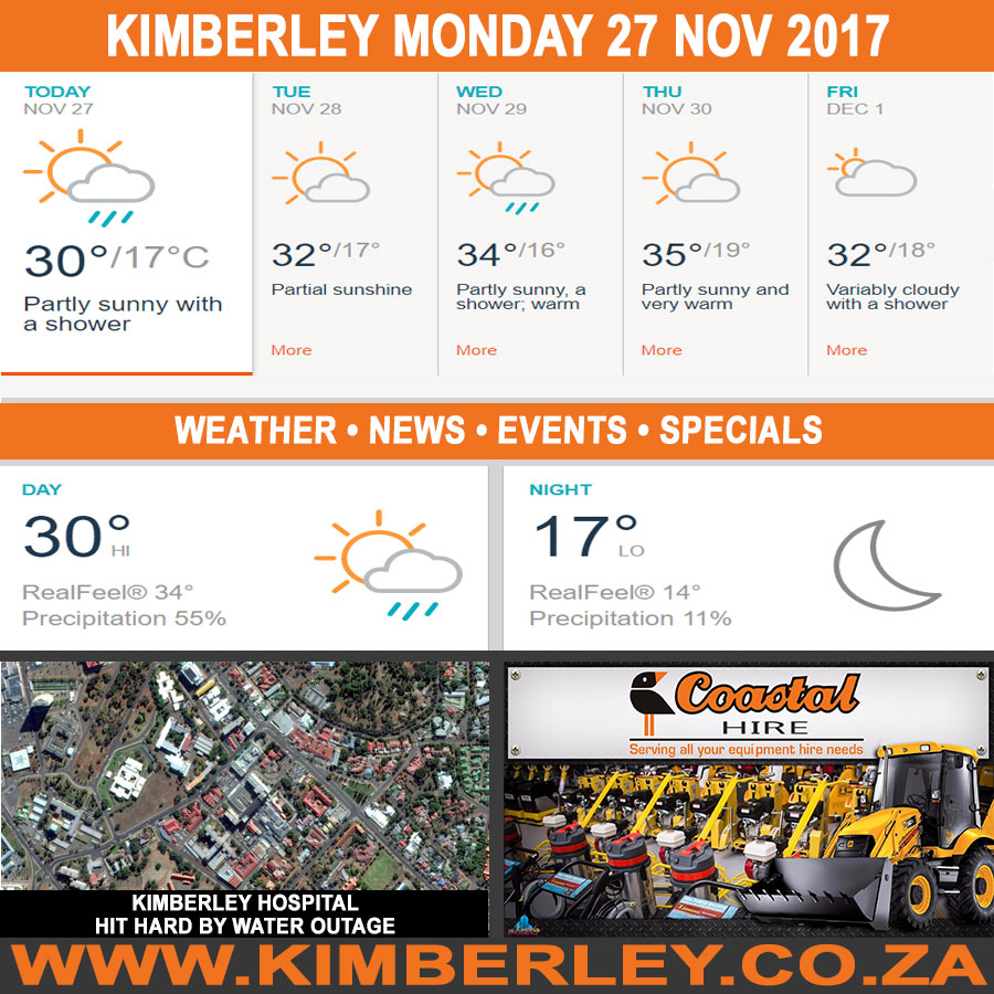 Today in Kimberley South Africa - Weather News Events 2017/11/27