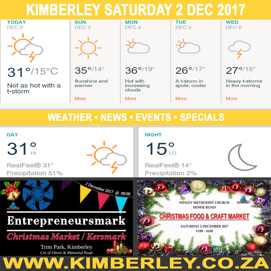 oday in Kimberley South Africa - Weather News Events 2017/12/02