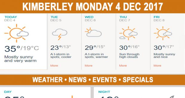 Today in Kimberley South Africa - Weather News Events 2017/12/04