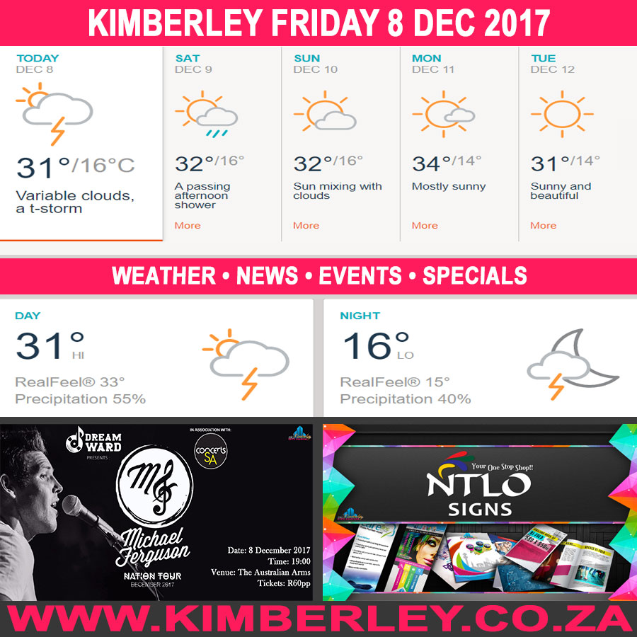 Today in Kimberley South Africa - Weather News Events 2017/12/08