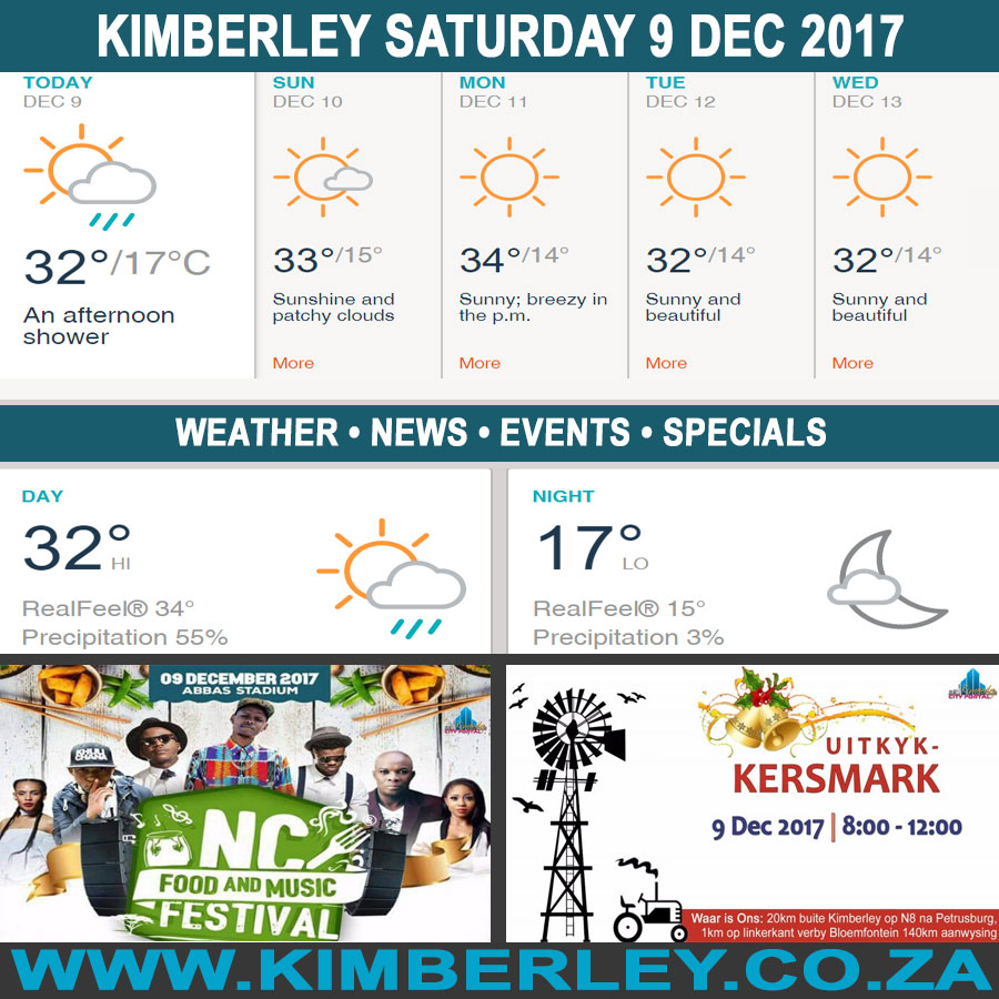 oday in Kimberley South Africa - Weather News Events 2017/12/09