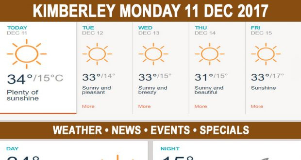 Today in Kimberley South Africa - Weather News Events 2017/12/11